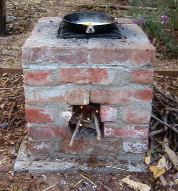 our rocket stove root simple