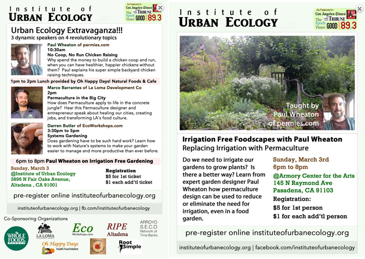 Institute for Urban Ecology Flyer