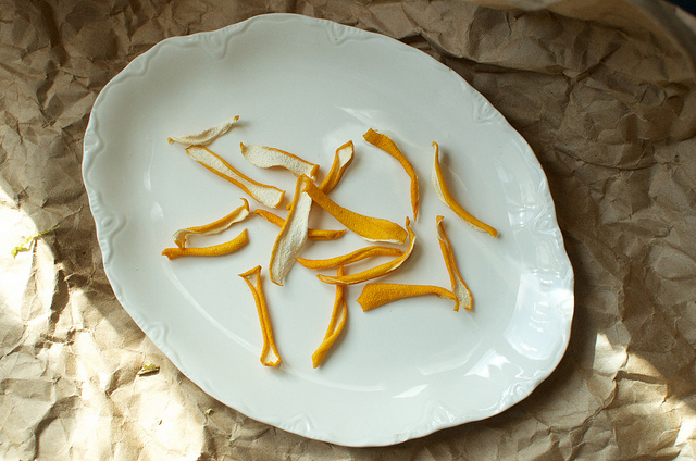 air dried lemon peels