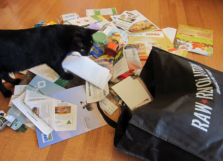 Natural Products Expo Bag Dump