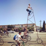 tall bike at Ciclavia