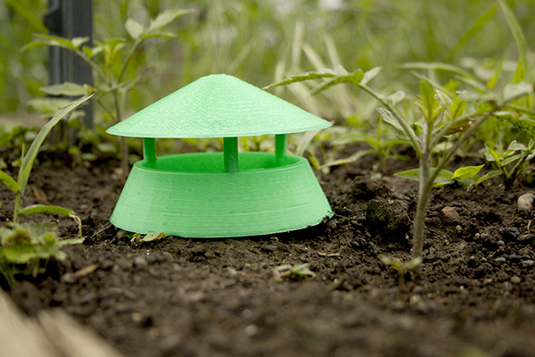 3D printed slug trap. Via Modern Farmer.