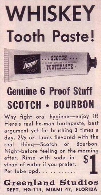 whisky tooth paste