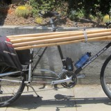 Xtracycle with a load of bamboo.