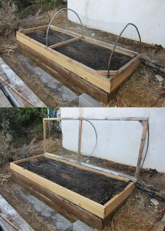 hinged raised vegetable bed