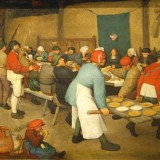 Peasant Wedding by Pieter Bruegel