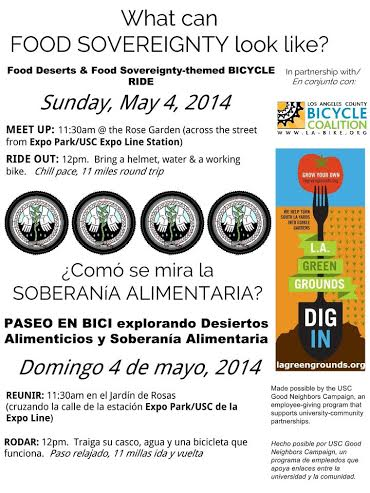 food sovereignty bike ride may 4