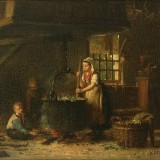 painting of a kitchen scene
