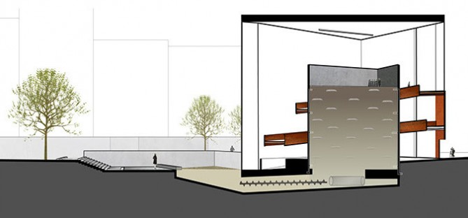 A conceptual drawing of the Urban Death Project's human composting operation.