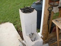 A Redneck Rocket Stove Root Simple