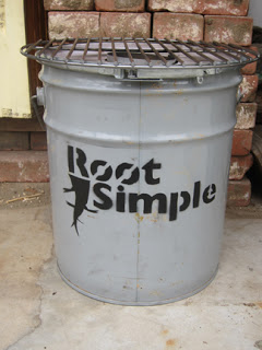 A Rocket Stove Made From A Five Gallon Metal Bucket Root