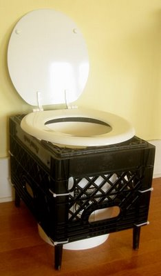 Humanure Dry Toilet Made From A Milk Crate Root Simple