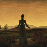 Caspar David Friedrich, Woman Before the Rising Sun (Woman Before the Setting Sun), 1818-20