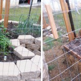 keyhole and straw bale garden