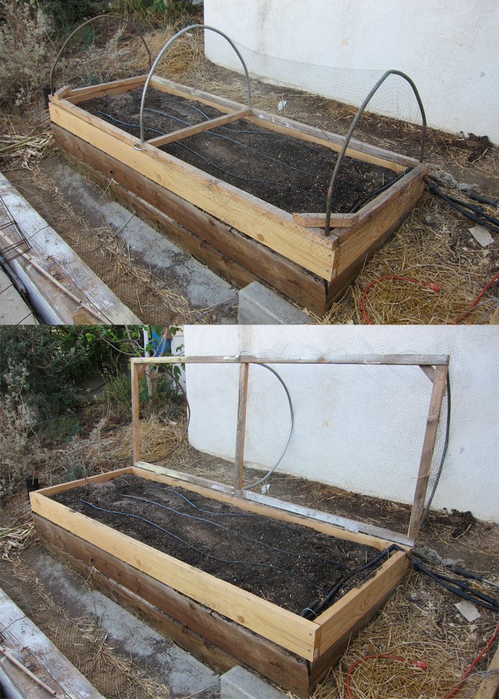 A hinged cover for a raised bed vegetable garden root simple - Cover crops for vegetable gardens ...
