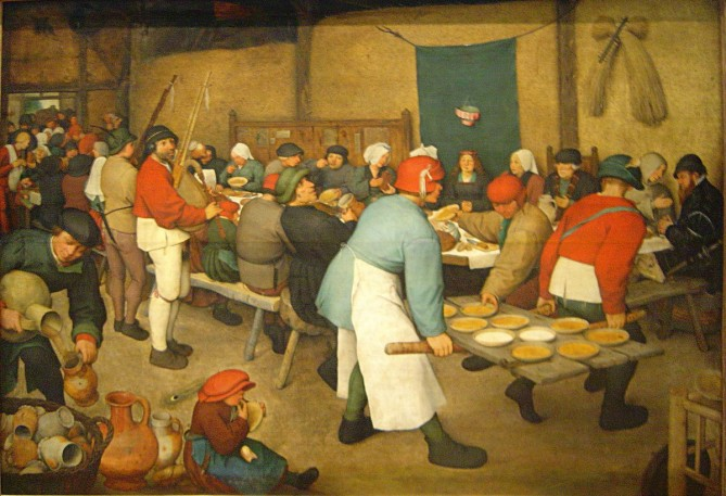 pieter bruegel's painting, The Peasant Wedding