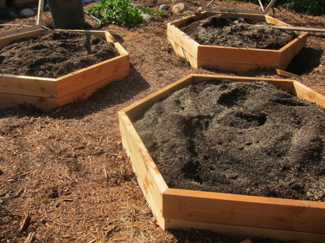 All Wood Raised Bed Vegetable Garden