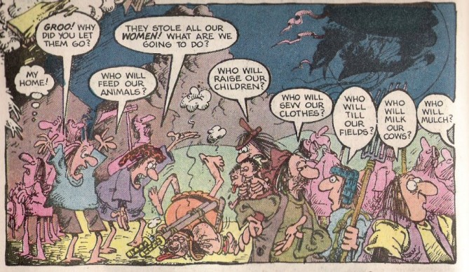"The word ""mulch"" became a running gag in the comic book TK."