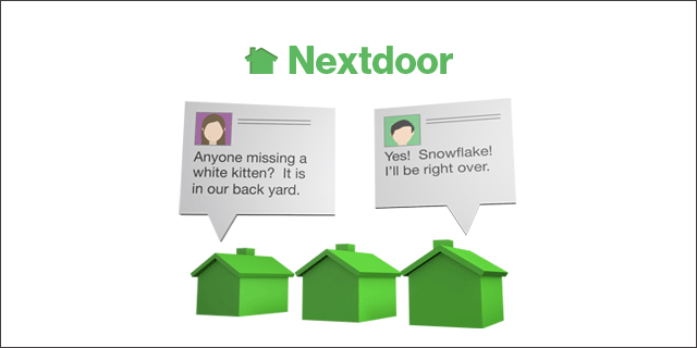 Nextdoor on car door support